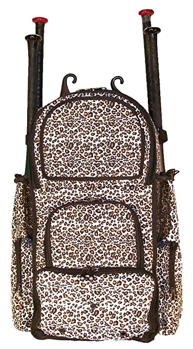 Amazon.com   White Cheetah Print Camouflage Chita L Adult Softball Baseball  Bat Equipment Backpack   Sports   Outdoors f4f456c6d4bad