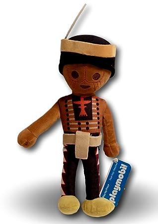 Playmobil Figura Indio Peluche 33cm Muñeco Juguete Personaje Original Super Suave Gran Calidad