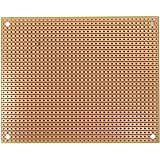 "Busboard ST2. Traditional Stripboard Pattern Prototyping Circuit Board, 100 mm W x 80 mm L x 1/16"" T"