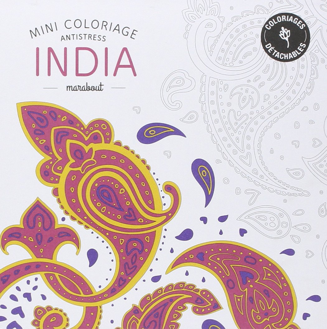 Mini coloriage antistress India French Edition Collectif Marabout Amazon Books