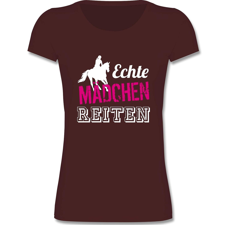 Sport Kind Echte Mädchen reiten Mädchen T-Shirt Shirtracer F288K
