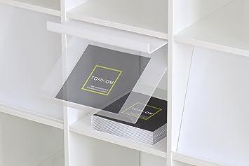 Prospektklappe Prospektständer F. Ikea Kallax Regal / 2 Positionen:  Einhändig Befüllbar / Ideal Für