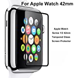 [2-Pack] Apple watch Series 1 Series 2 Series 3 42mm - iTieTie [Ultra Thin 0.26mm] Premium Tempered Glass Screen Protector, High Defintion