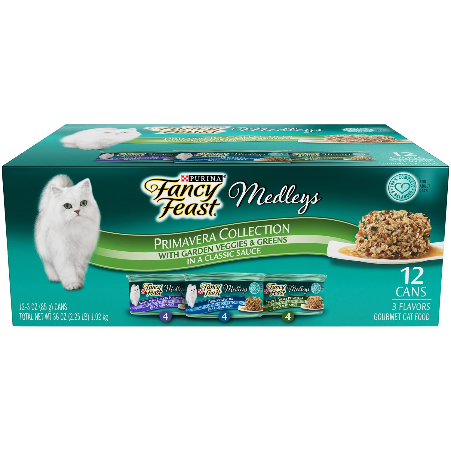 Purina Fancy Feast Medleys Primavera Collection Gourmet Wet Cat Food Variety