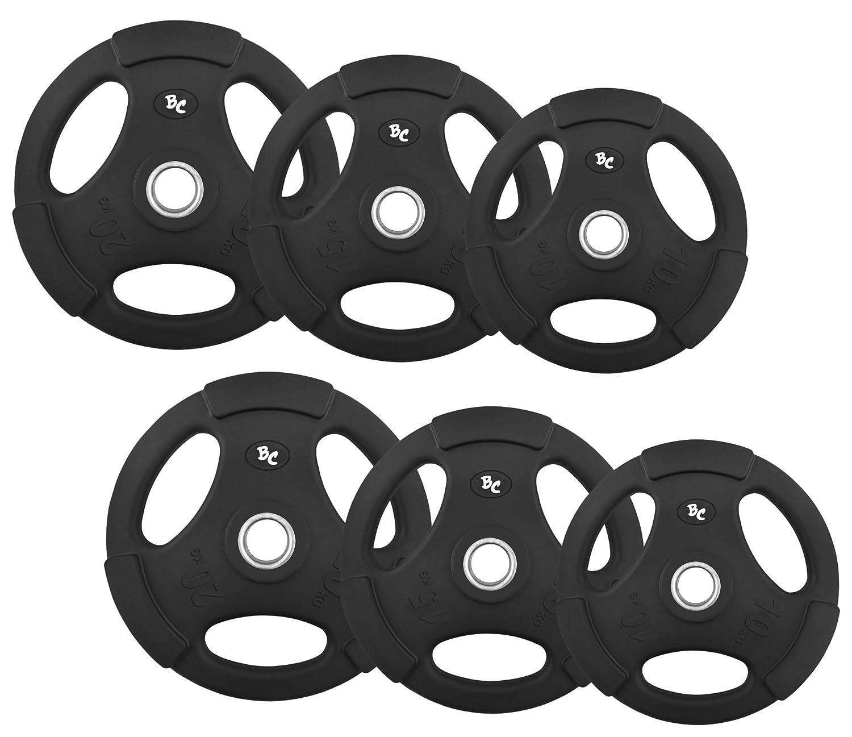 Gummi-Gripper 90,0Kg (2x10, 2x15, 2x20) Hantelscheiben Hantel Hanteln Gewichte 30/31mm