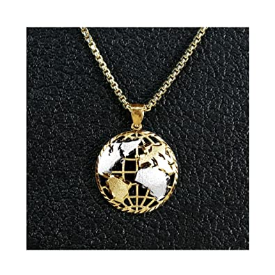 Amazon lovebling 10k yellow gold world map globe charm lovebling 10k yellow gold world map globe charm necklace pendant 140quot gumiabroncs Gallery