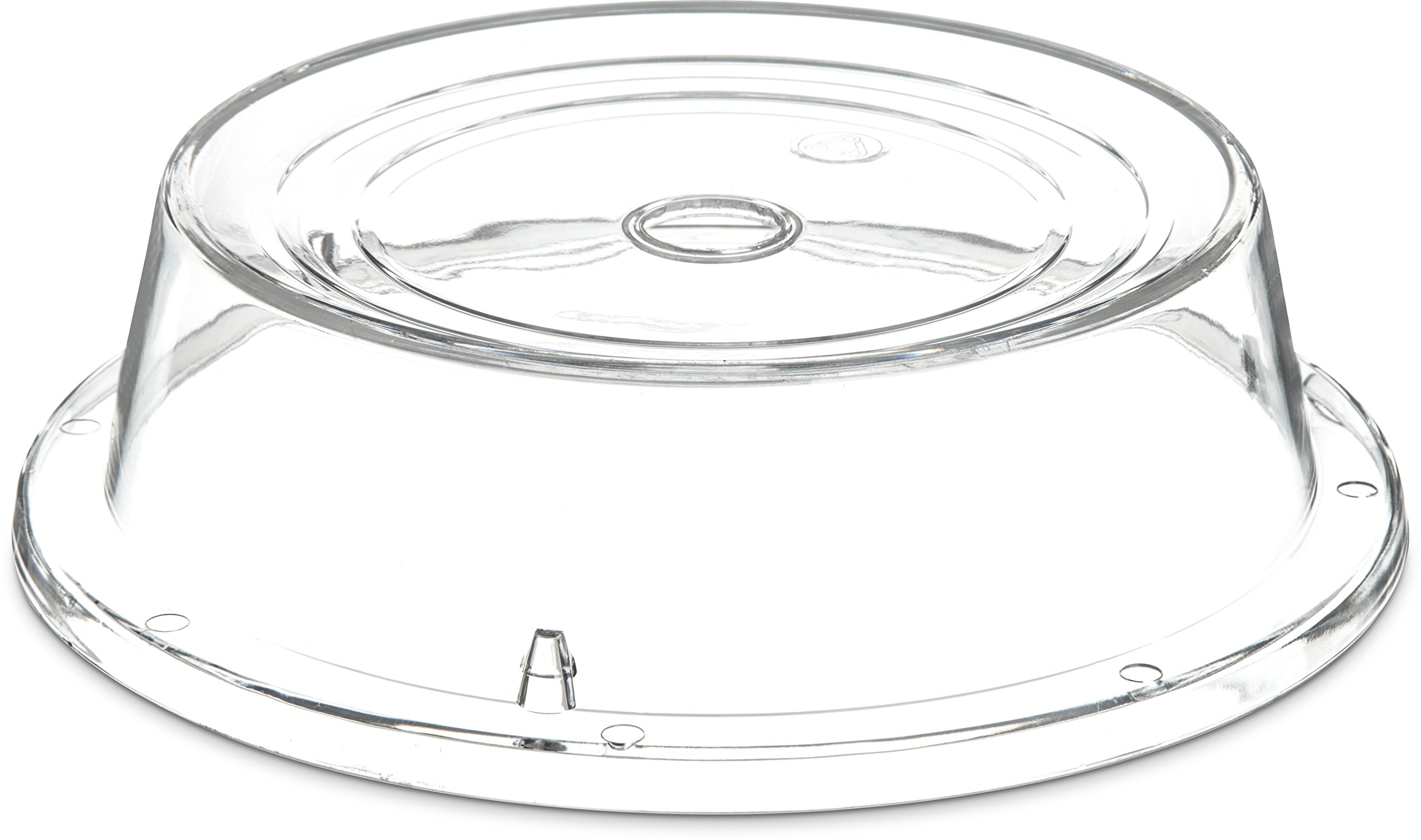 Carlisle 196507 Polycarbonate Plate Cover, 10'' Bottom Diameter x 2.65'' Height, Clear (Case of 12)