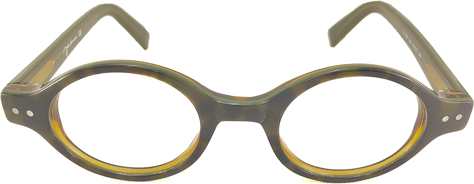 f77b43c91bd Amazon.com  John Lennon JL10 Eyeglass Frame - Black Brown  Clothing