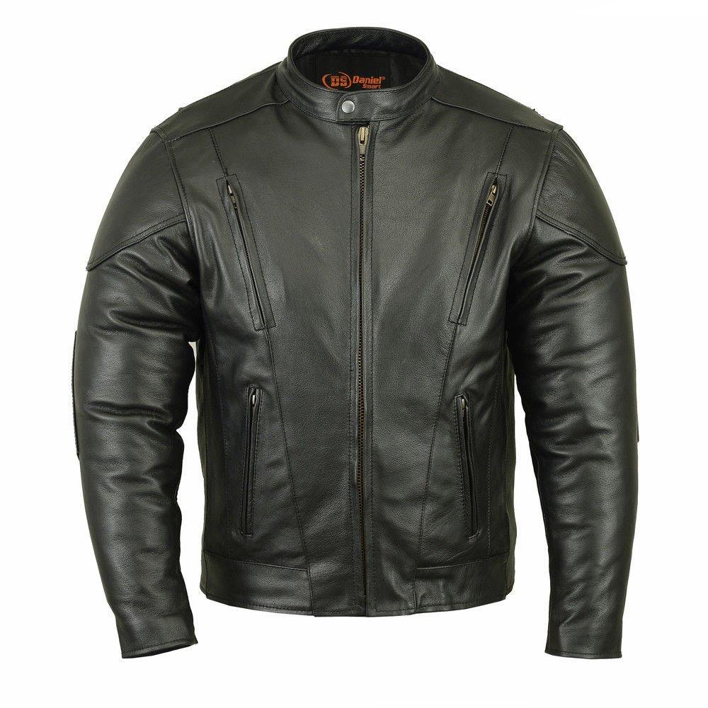 Daniel Smart Men's Vented M/C Jacket w/Plain Sides (4XL Regular) Unbranded
