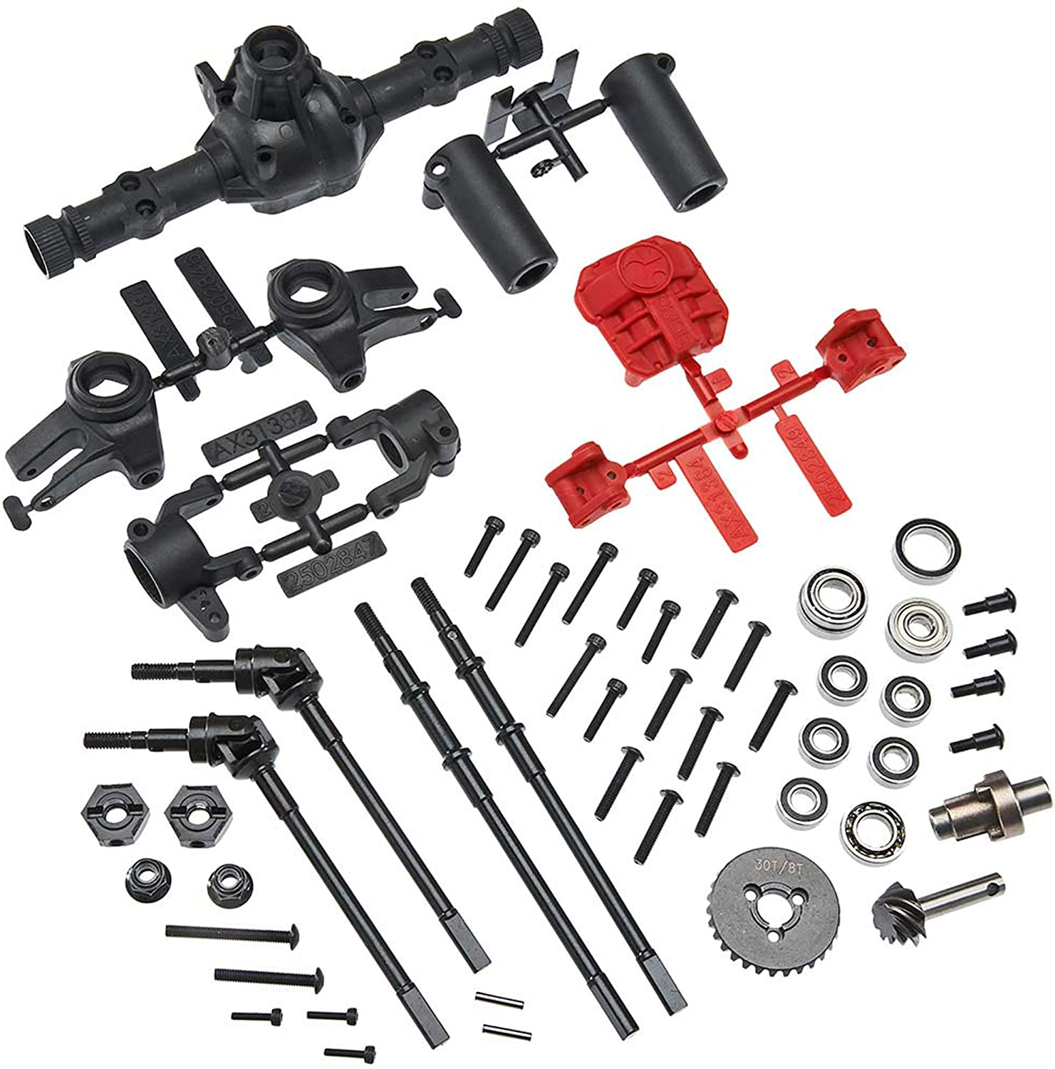 Front Complete Axle Complete Axle Good Stability for RC Car Lovers Professionals 1//10 Axial SCX10 I and SCX10 II RC Car Repair and Replace