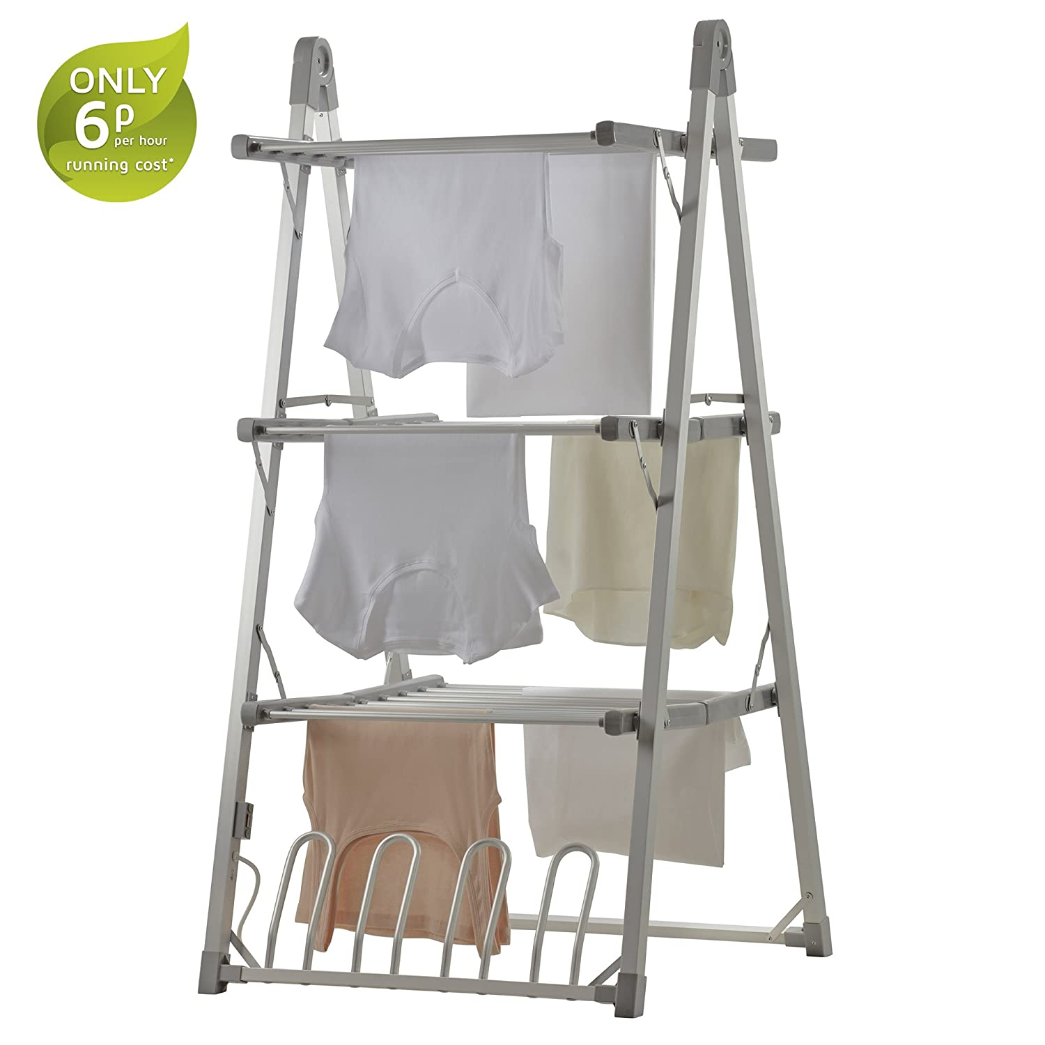 Electric Heated Clothes Airer Dryer 3 Tier Horse Rack 300W