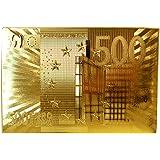 ABBY Jeux de carte d'or Imperméable doré poker carte d'or collection de poker Tyrant or feuille poker