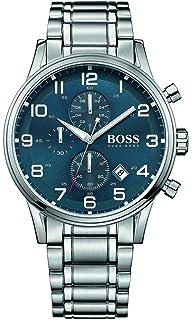 ba4ae559b Hugo Boss Aeroliner Blue Dial Stainless Steel Chrono Quartz Male Watch  1513183