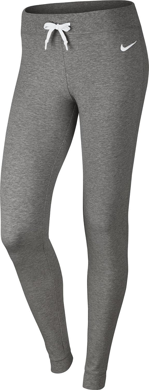 Nike W NSW Pant CF Jrsy Pantalón, Mujer, Gris (dk Grey Heather/White), L