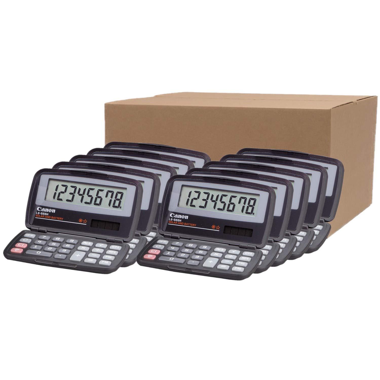 LS555H Handheld Foldable Pocket Calculator, 8-Digit LCD/Carton of 10 calculators by Canon