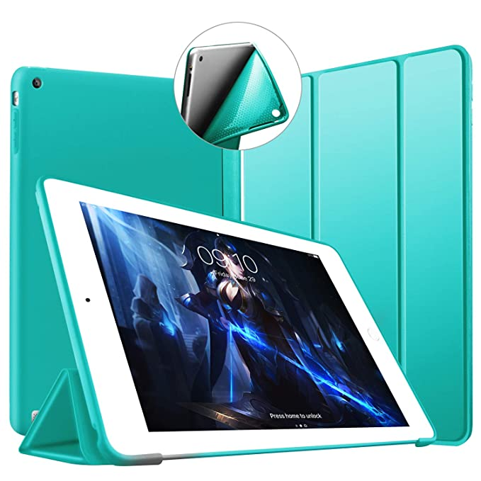 VAGHVEO Funda para iPad 2/3 / 4, Ultra Slim Protectora Silicona Smart Cover [Auto-Sueño/Estela] Cubierta Trasera de Silicona Suave TPU Case para Apple ...