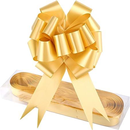 WXJ13 - Pack de 30 lazos de color rojo para cesta de regalo. Con cinta. Para envolver regalos, para Navidad, bodas, San Valentín, decoración, etc.: Amazon.es: Hogar