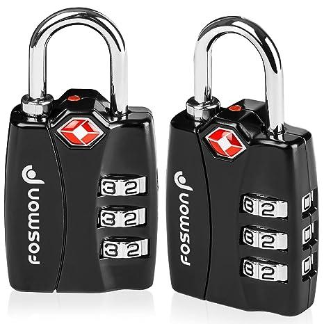 TSA aprobado candados para el equipaje, Indicador de alerta abierta de Fosmon Códigos de candado