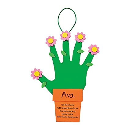Amazon Com Fun Express Handprint Mother S Day Flowers Gift Makes