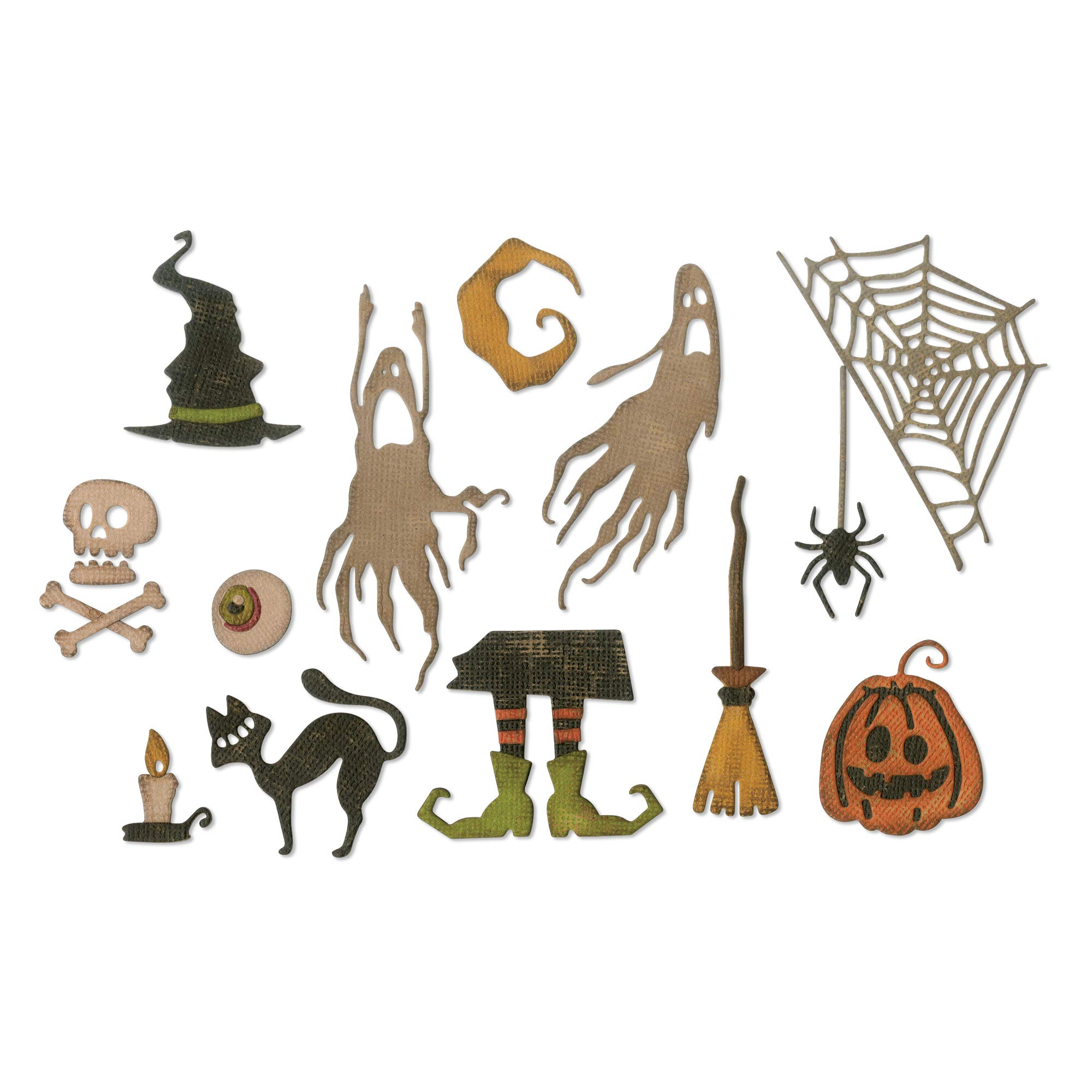 Sizzix 664209 Frightful Things by Tim Holtz Dies, Multicolor