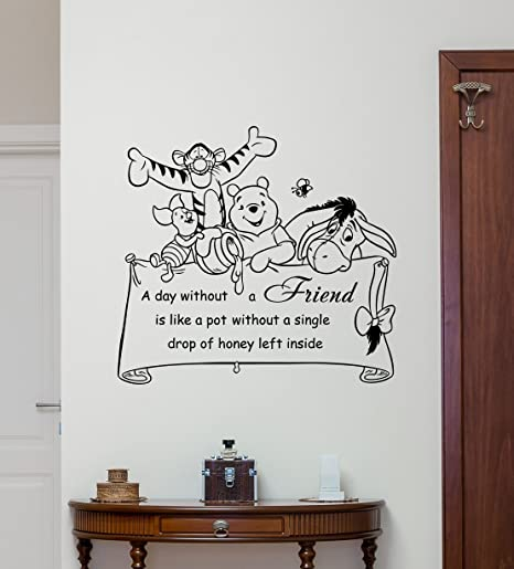 Winnie The Pooh Wall Decal Quote Lettering Walt Disney Vinyl ...