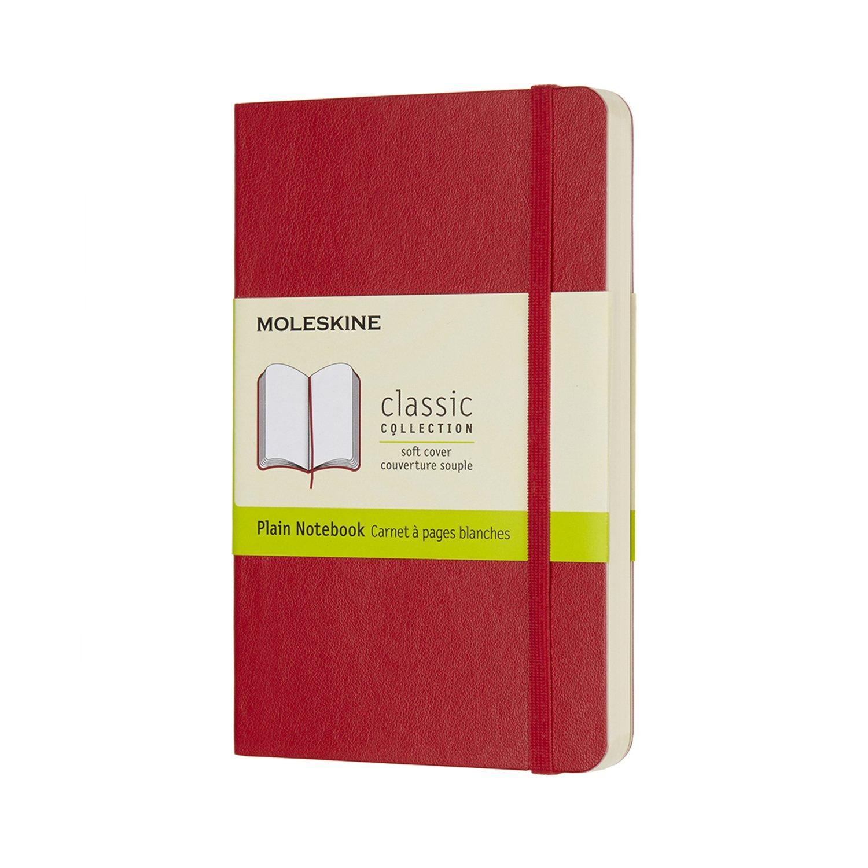 Moleskine Classic Notebook Pocket Plain Scarlet Red...