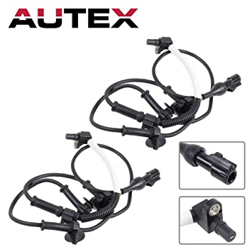 Autex 2pcs Abs Wheel Speed Sensor Front Left Right Als198 Compatible With Ford Explorer 1995 2001 Ford Explorer Sport Trac 2001 2005 Ford Ranger