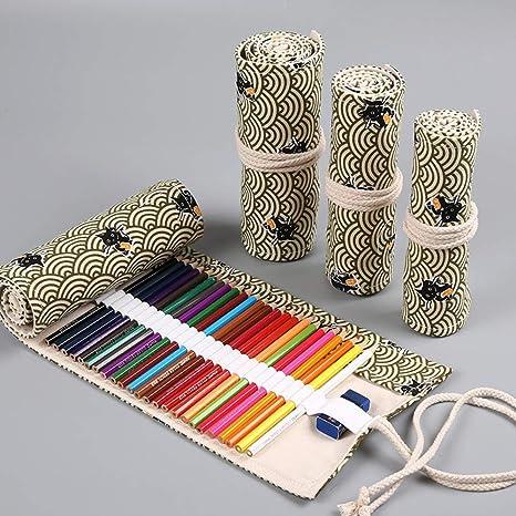 Esdella 36 48 72 Slots - Estuche enrollable para lápices de colores, portable, estuche enrollable: Amazon.es: Juguetes y juegos