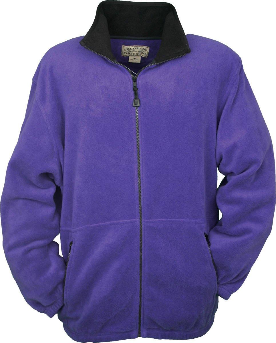 Colorado Timberline Men's Telluride Fleece Jacket-XL (Purple)