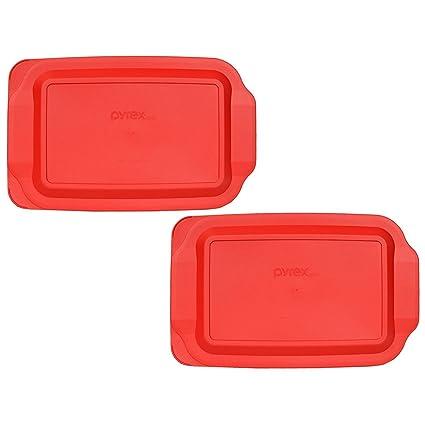 Amazoncom 2 Pyrex 233 Pc 3 Quart Red 9 X 13 Baking Dish Lids