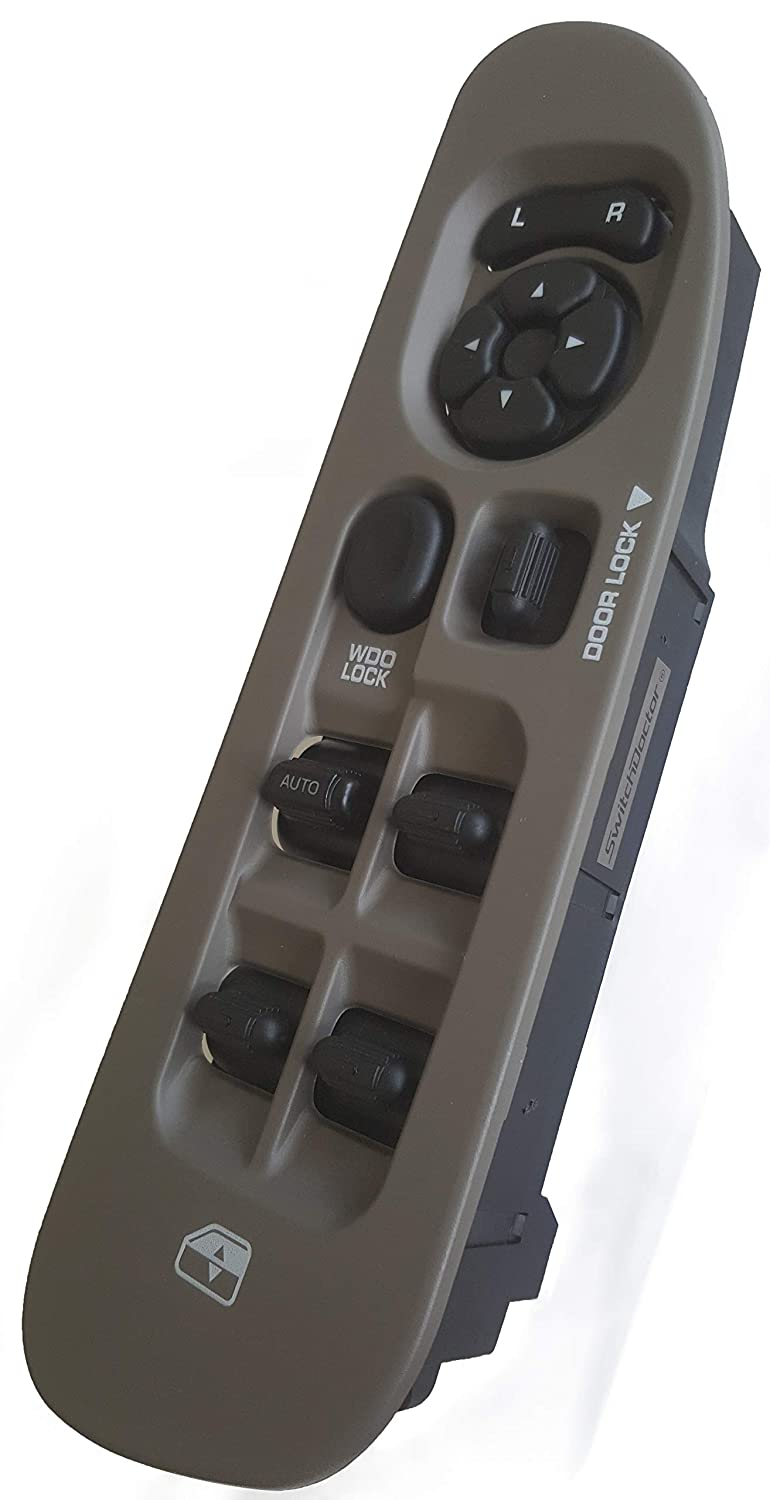 Tan SWITCHDOCTOR Window Master Switch /& Taupe Bezel Assembly for 2002-2009 Dodge Ram