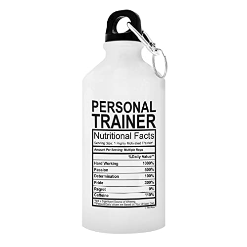 ThisWear Personal Trainer Graduation Gifts Nutritional Facts Gift Aluminum Water Bottle With Cap