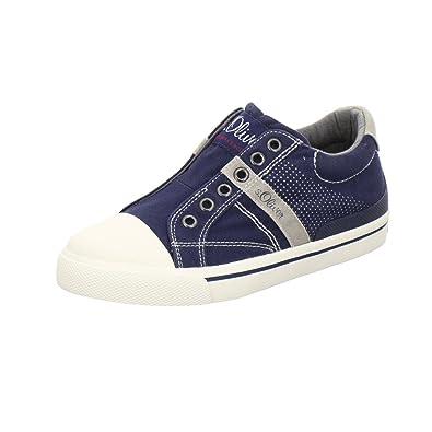 s.Oliver 54100, Zapatillas sin Cordones para Niños, Azul (Navy), 40 EU
