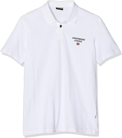 Napapijri Eonthe Bright White Polo para Hombre
