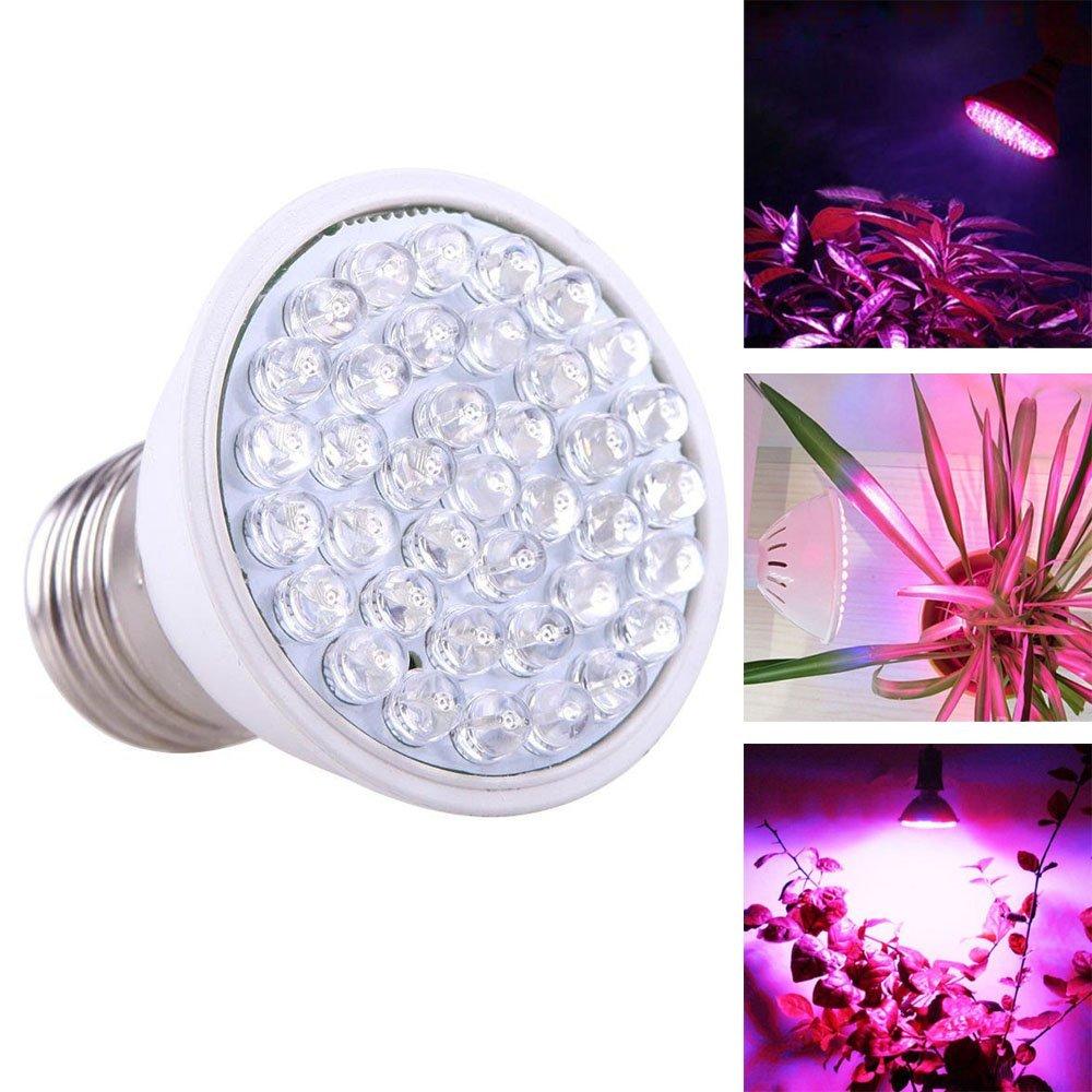 Frog-Tech 1.9W E27 38LED Grow Light Growing Lamp for Plants