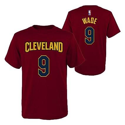 Dwyane Wade Cleveland Cavaliers # 9 NBA juventud niños nombre & número camiseta burdeos, Burgundy