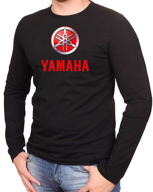 Yamaha Motorcycle Biker Motorrad Race Schwarze Langarmshirt 589-LA