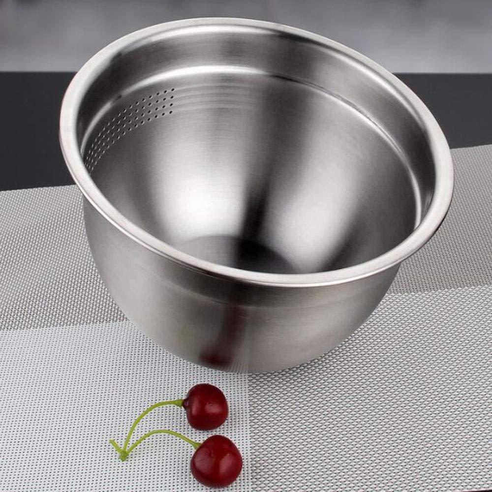 Stainless Steel Washing Basket Kitchen Drain Basin Washing Fruit Basket by HXD