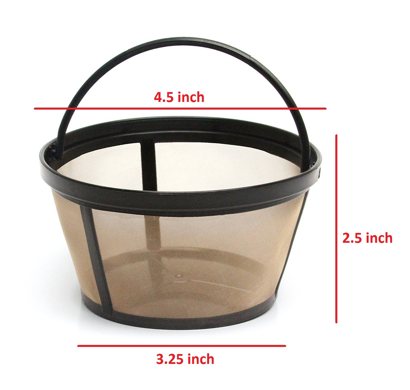 GOLDTONE Reusable 8-12 Cup Basket Coffee Filter fits Mr. Coffee Makers and Brewers, BPA Free by GoldTone (Image #3)