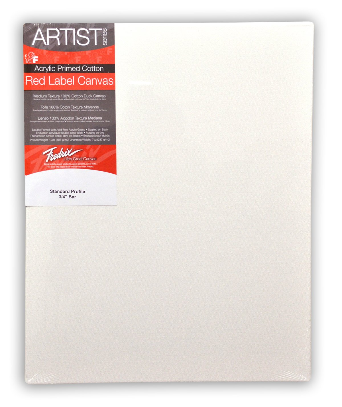 amazon com fredrix 5036 red label stretched canvas 30 by 40 inches