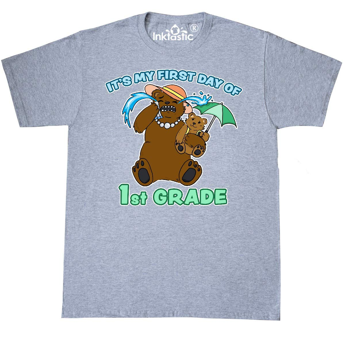 inktastic Its My 1st Day of 1st Grade with Bear Family T-Shirt