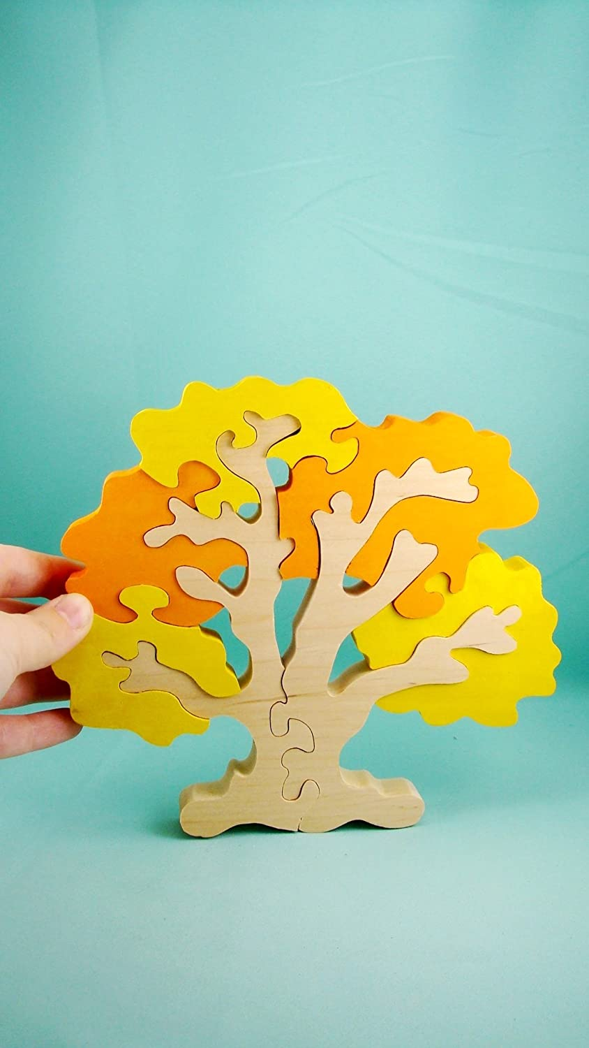 Wooden puzzle, autumn tree, wooden eco friendly handmade toys