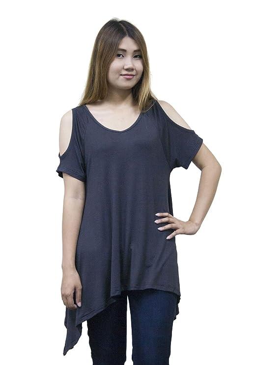 Lofbaz Mujer Camiseta con Tirantes de Hombros Al Aire: Amazon.es: Ropa y accesorios