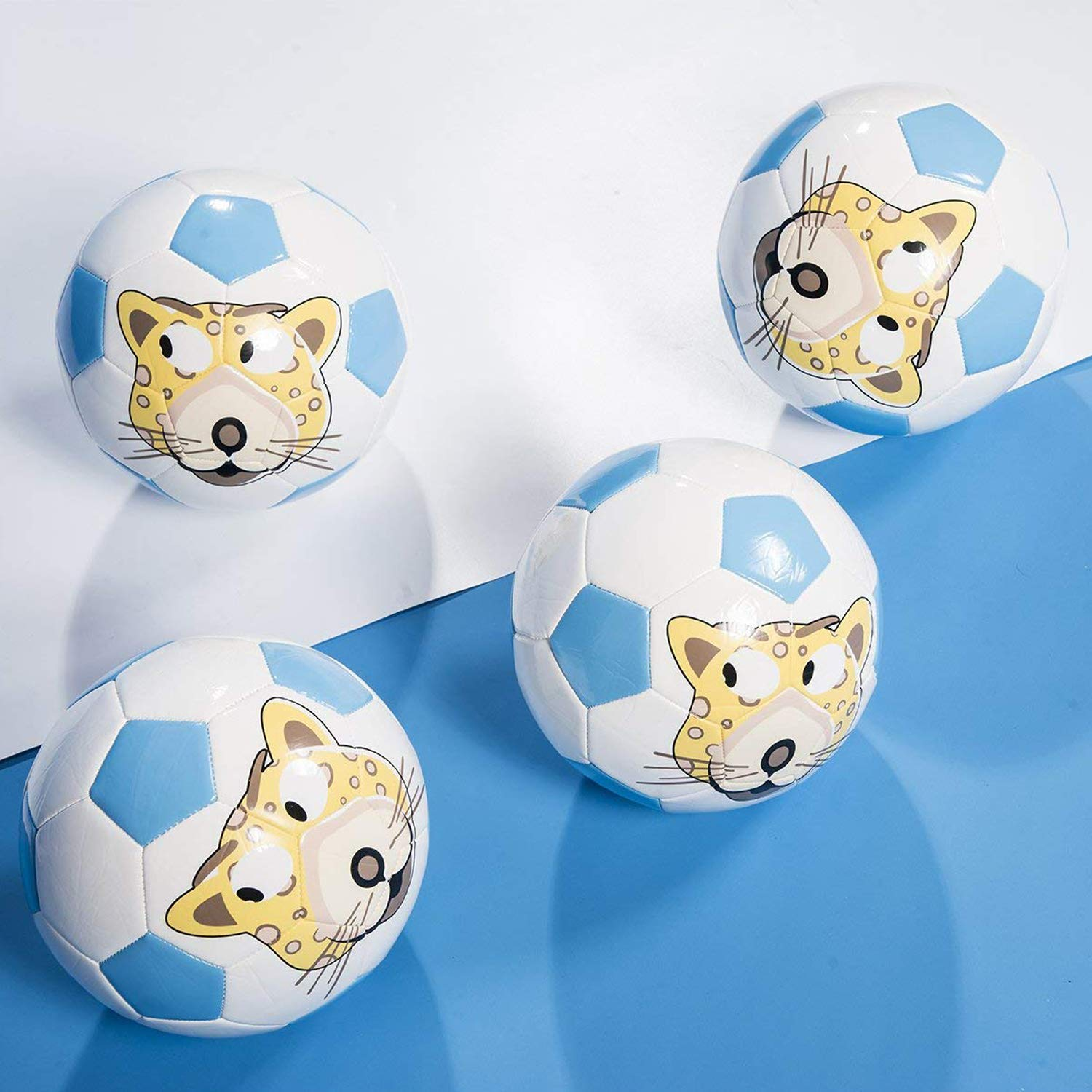 GLORY Soccer Ball with Pump Cartoon Toddler Soft Training Ball for Outdoor Indoor Match Game Size 5 Foot Control Kicking Practice