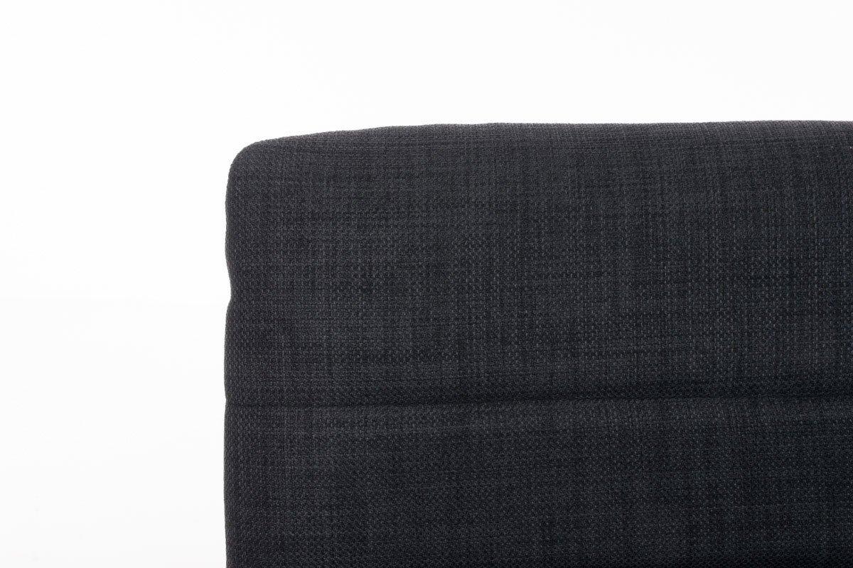 CLP Sgabello Bar VALENZIA Imbottito In Tessuto I Sgabello Girevole 360/° Altezza Regolabile 60-81 CM I Sedia Sgabello Elegante Con Schienale Grigio