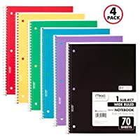 4-PK Mead Spiral Notebooks 1 Subject Paper 70 Sheets 72873 Deals