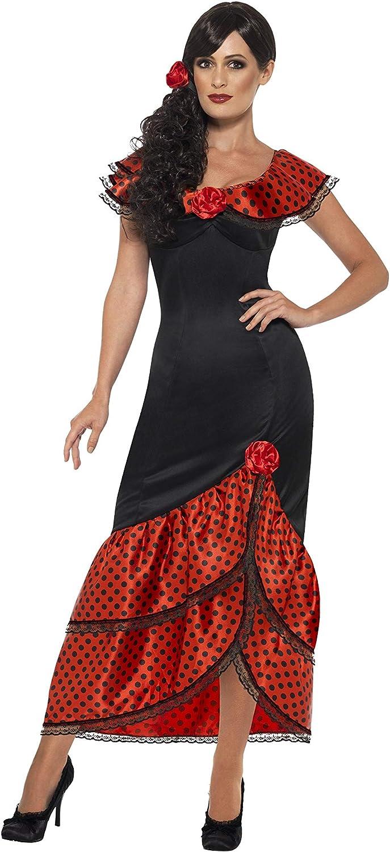 SmiffyS 45514S Disfraz De Bailaora De Flamenco Con Vestido Y ...