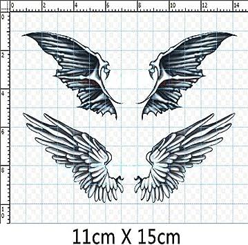 Juego de 3 Fashion alas de ángel y demonio Body Tattoo Stickers ...