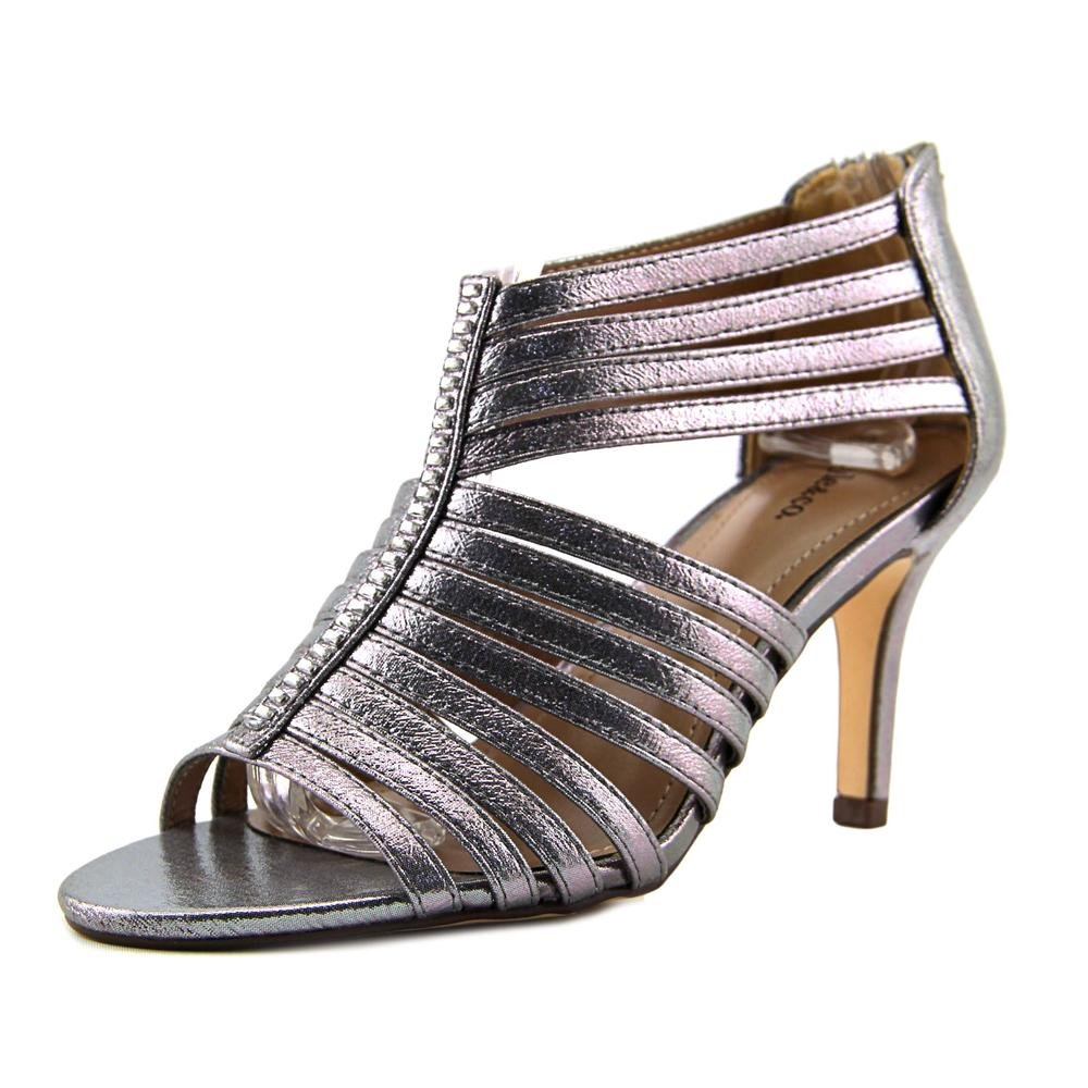 Style & Co. Womens Shaynaa Open Toe Casual Strappy Sandals, Pewter, Size 7.5