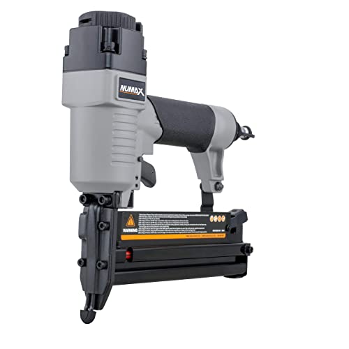 NuMax S2-118G2 Pneumatic 2-in-1 18-Gauge 2 Brad Nailer and Stapler Ergonomic and Lightweight Combo Brad and Staple Gun with Tool-Free Finger Depth Adjust
